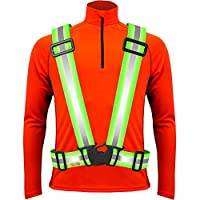 Tuvizo Hi Vis Vest - Reflective Gear for High Visibility Running and Cycling