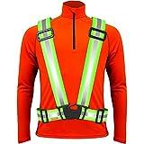Warnweste / Reflektorweste / Sicherheitsweste / Reflektoren / Signalweste / Reflektor zum Laufen Wandern Motorrad Radfahren Fahrrad - gelb. Bestes geschenk. Reflective / Safety Vest for Walking Biking Cycling Running Sport For Men Women - Yellow