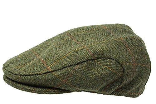 Flache Tweed-Mütze, hochwertiger schottischer Tweed, Teflon beschichtet, im Jagd-/Bauern-/Reiter-Stil Gr. XXX-Large, Dark Tweed
