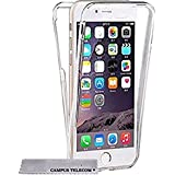 Coque 360 DOUBLE GEL Silicone Protection INTEGRAL pour Smartphone IPHONE 5 5S SE etui housse pochette Transparent INVISIBLE by Campus Telecom