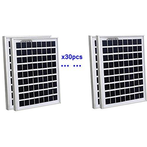 ECOWORTHY 150Watt 30pcs 5W Watt Solar Panel Ploy Solar Module 12V Battery Charger for Caravan Boat Power - Linear Battery Charger Controller