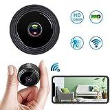 Spy Cam Telecamera Microcamera Spia Nascosta WiFi 1080P HD Senza Fili Mini Portatile di Sorveglianza con Visione Notturna Sensore di Movimento y Batteria Esterno/Interno Piccola videocamera