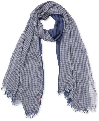 Strellson Sportswear Unisex - Erwachsene Schal, kariert 3478-01-W13, Gr. one size, Blau (Marine)