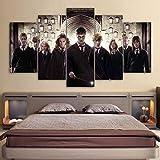 5 Stück Drucke Auf Leinwand Harry Potter 3D Wandkunst Malerei Kein Gerahmtes Wohnzimmer Home Etc Decor,30X40x2+30X60x2+30X80x1
