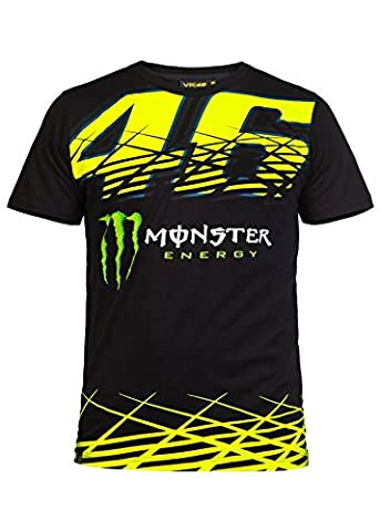 Valentino Rossi 46 Monster Tee Men black, L (Valentino Rossi Shop)