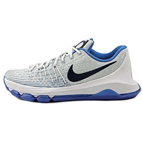 Nike  KD 8, espadrilles de basket-ball homme Multicolore - Blanco / Azul (White / Midnight Navy-Photo Blue)