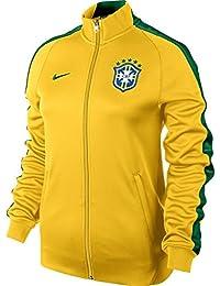 Giacca da donna Nike N98 CBF Brasil Track Jacket, Giallo (giallo), XL