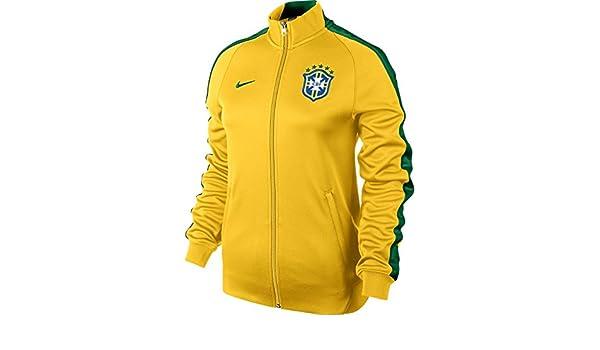 finest selection b73d9 fd77b Nike veste n98 track veste de survêtement brésil cBF M Jaunenoir - Jaune  Amazon.fr Sports et Loisirs
