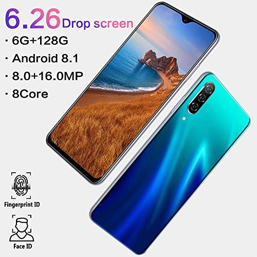 Garsent Entsperrte Handys, 6,3 In Ultra-Vollbild-Dual-SIM-Unterstützung 2G GSM & 3G Wcdma 3 GB RAM + 32 GB ROM Face Id -Mit 3000Mah Lithium-Ionen-Dual-Kamera 8MP + 16MP-Android 8-System(EU) (Handy Handy Entsperren Tmobile)