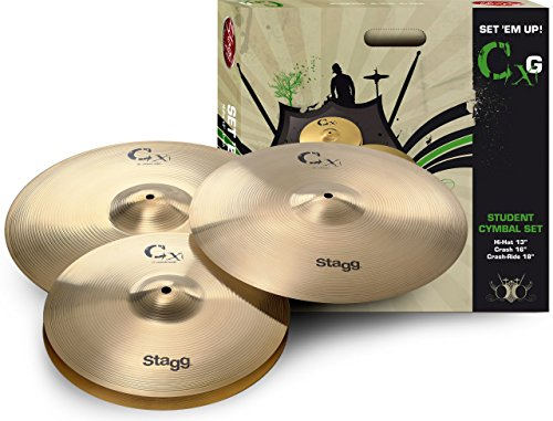Stagg 25014767 CXG Start Brass Cymbal Set (H13, C16, CR18)