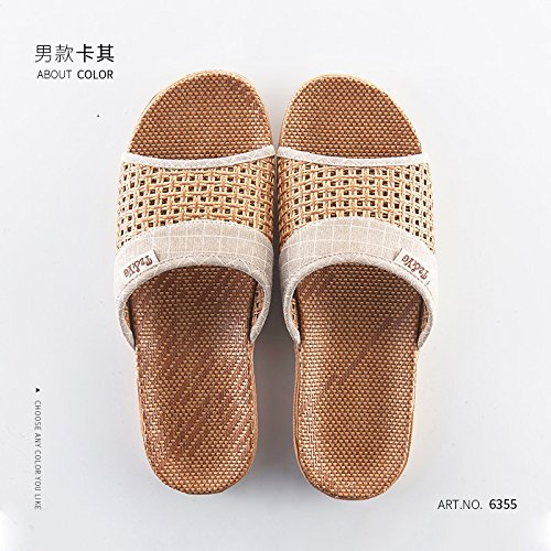 Fankou fresche ciabatte estive, l'antiscivolo, le persone anziane sull'erba, le pantofole di bambù, 42/43, b, gli uomini e la loro carta.