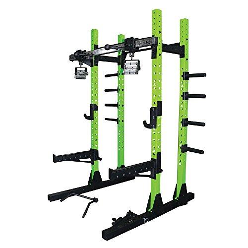 Primal Strength Stealth kommerziellen Fitness Half Power Rack Verde ITHACA mit Drehgelenk Kinn Griffe und Bügelgriff Befestigung
