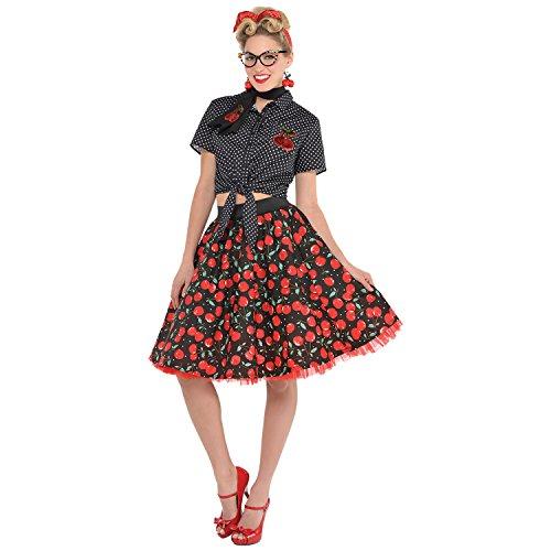 Rockabilly Ladies Fancy Dress Pin Up Skirt 1950s 50s Womens Adults