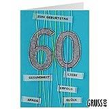 Grußkarte Filz - Zum 60. Geburtstag - Geburtstagskarte - 06