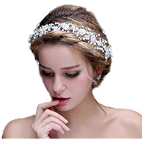 gracewedding para mujer cristal diamante diadema novia novia boda accesorios pelo banda cabeza desgaste Rhinestone