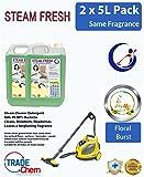 2x 5L Dampf Reinigungsmittel Lösung für alle Maschinen–Dampfreiniger Fluid INC Vax–Floral Burst
