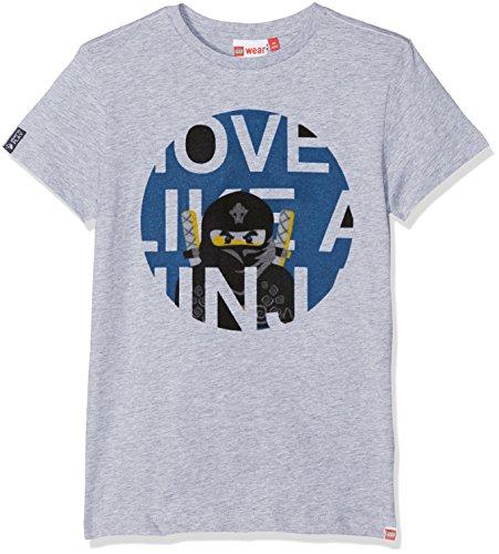 Lego Wear Jungen Lego Boy Ninjago Teo 601-T-Shirt, Grau (Grey Melange 924), 128 Preisvergleich
