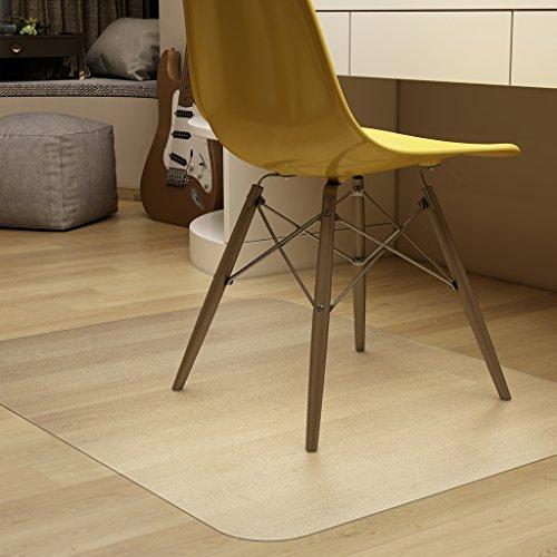 Bodenschutzmatte transparent 122 x 92 cm, Slypnos Bürostuhl Unterlage PVC ohne BPA & Phthalate, für Laminat, Parkett, Fliesen und Hartböden (Unterlage Fliesen)