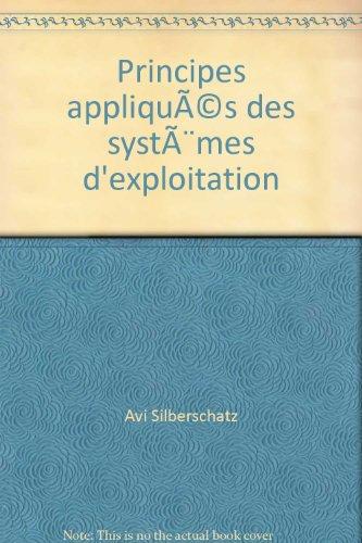 Principes appliqués des systèmes d'exploitation