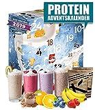 Protein Adventskalender I 24 verschiedene Proteinpulver I Geschenkidee für Fitnessbegeisterte I Eiweiß Protein Kalender für Erwachsene