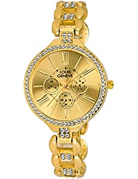 Louis Geneve Stylish & Elegent Series Analog Watch For Women & Girl (LG-LW-SS-GOLD-133)