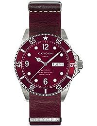 University Sports Press EX-D-GRA-40-NL-PL - Reloj de cuarzo unisex, correa de cuero color rojo