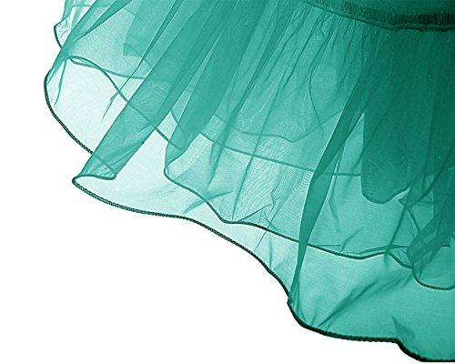 Dresstells 50s Sottogonna Petticoat organza retro vintage mini gonne puffy Rockabilly Verde scuro