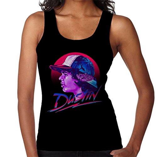 Dustin Montage Stranger Things Women's Vest Black