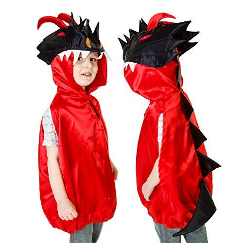 Luxus Drachen Kostüm für Kinder - 3-8 Jahre alt - Drache Kostüm Kinder - Slimy Toad