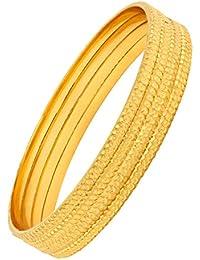 The Jewelbox Nakshi Slim Gold Plated Kada Bangle Set Of 4 For Women