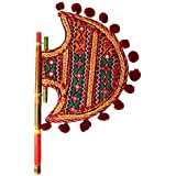Home Decor Handicrafts | Home Decor | Home Decorative Items In Living Room, Bedroom | New Kutch Gujarati Art Work Ethnic Colorful Hand Fan - B0756FQ52D