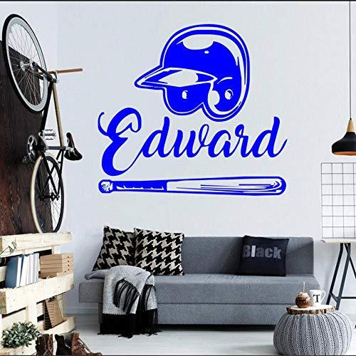 Wandaufkleber Entwerfen Sie Sich Baseball Dekoration Berühmte Sport Abnehmbare Witwen Tür Aufkleber Wandbild 57 * 63 cm