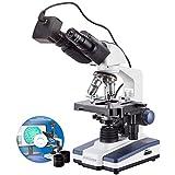 40x 2000x LED Fernglas Digital Compound Mikroskop w 3D Stage und USB-Kamera