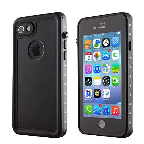 ele ELEOPTION IP68 Wasserdicht Schutzhülle kompatibel mit iPhone 7 und iPhone 8 Unterwasser Rund-Schutz Handy Schale Shockproof Snowproof schmutzabweisend