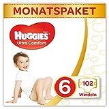 Huggies Windeln Ultra Comfort Baby Monatsbox, Größe 6, 102 Stück
