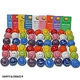 Smiley bunt 54 Stück handmade aus Ton