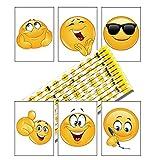 12 x Emoji Bleistifte und Kleine Notizblöcke | Kindergeburtstag ┃Mitgebsel┃Geschenk für die Klasse zum Schuljahresende | Füllen von Geschenktüten