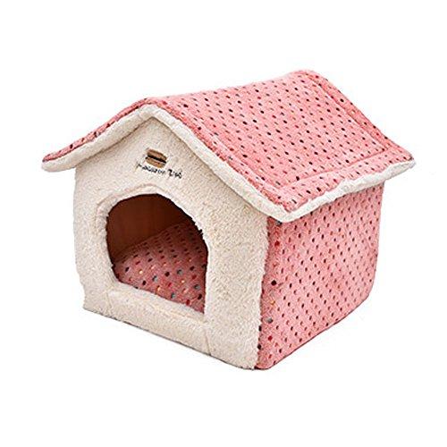 elite-polka-dot-niedliche-house-form-hundebett-geeignet-fr-kleine-hunde-winter-bestseller-blau-pink