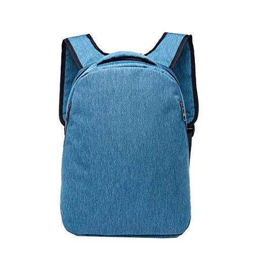 Yy.f Neue Persönlichkeit Tasche Retro-Tasche Männer Und Frauen Einen Großen Außen Rucksack Art Und Weise Schulterbeutel Praktische Interne Mehrfarbige Blue