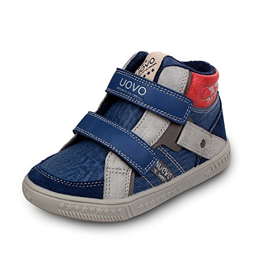uovo-leisure-shoes-high-top-easy-pull-on-with-2-velcros-for-kids-boys-girls-uk-size-13-eu-32-us-size