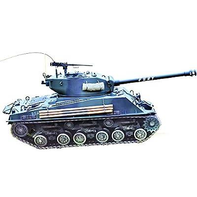 Hooben NEW RTR-PANZER 1:10 M4A3E8 Fury Tank U.S. M4 SHERMAN MEDIUM Half Metal by Hooben Tech CO LTD