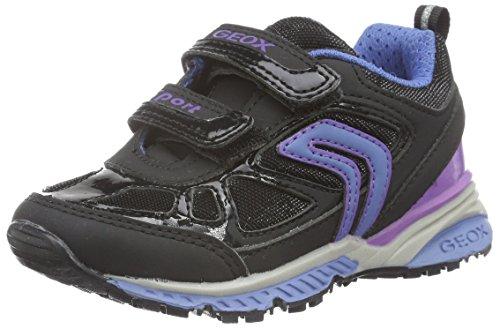 geox j bernie d baskets basses fille schwarz black turquoisec0490 35 eu toutes les chaussures. Black Bedroom Furniture Sets. Home Design Ideas