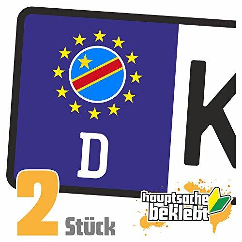 Kongo, Demokratische Republik Kennzeichen Aufkleber Sticker Nummernschild Land Country Nation -