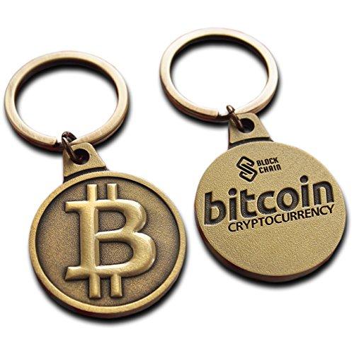 Bitcoin Schlüsselanhänger Luxus 2018 Metall Edition Physische Bitcoin Münze Gedenk als Schlüsselanhänger Kunstsammlung Geschenke Auto Charm Anhänger mit Blockchain Logo