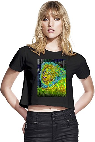 Psychedelic Lion Womens Continental Cropped Jersey Medium -