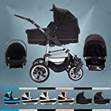 Bebebi | Modell London | 3 in 1 Kinderwagen Set | Hartgummireifen | Farbe: Tower Bridge