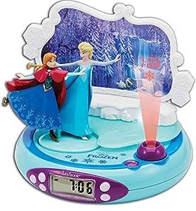 Disney Frozen - Radio Despertador con proyección de la Hora (Lexibook RP500FZ)