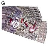 PINBinyee, 6 tovagliette all'americana, 12 sottobicchieri, decorazioni natalizie, tovagliette all'americana, con stampa creativa in PVC