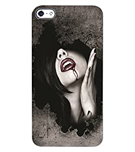 ColourCraft Dracula Girl Design Back Case Cover for APPLE IPHONE 4