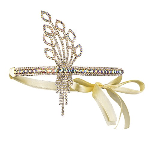 BABEYOND Flapper Blatt Muster Stirnband Damen 1920s Stil Haarband Inspiriert von Great Gatsby Damen Kostüm Accessoires (Kostüme Gatsby Frauen Great)